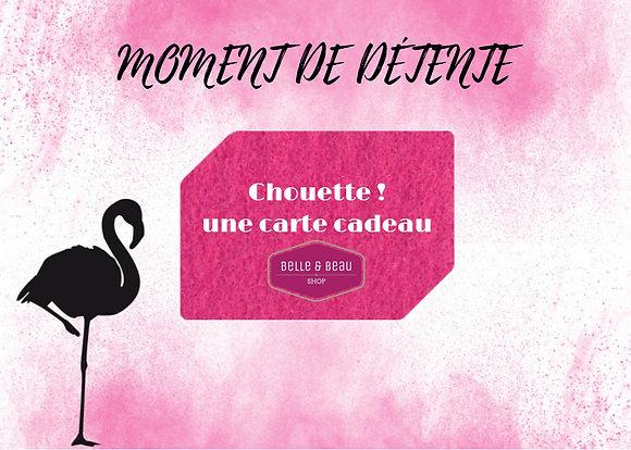 """E-carte Cadeau """"Moment de Détente"""""""
