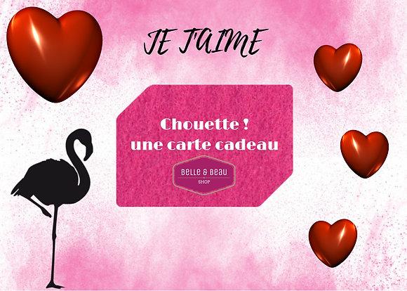 """E-carte Cadeau """"Je t'aime"""""""