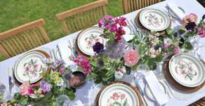 Creating a summer garden tablescape
