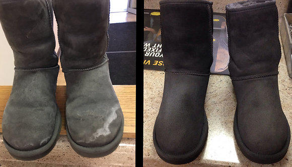 Suede Cleaning and Water/Stain Protection