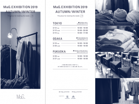 MaG. EXHIBITION 2019  AUTUMN/WINTER