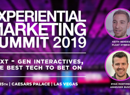 Float and Anheuser Busch to speak at Experiential Marketing Summit on Next Gen experiences