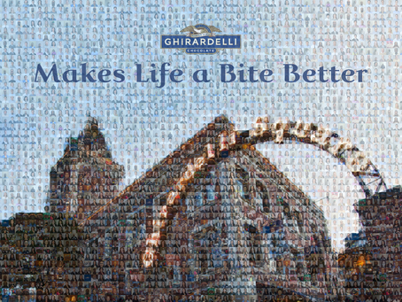 Float and Ghirardelli deliver a valuable Photo Mosaic message