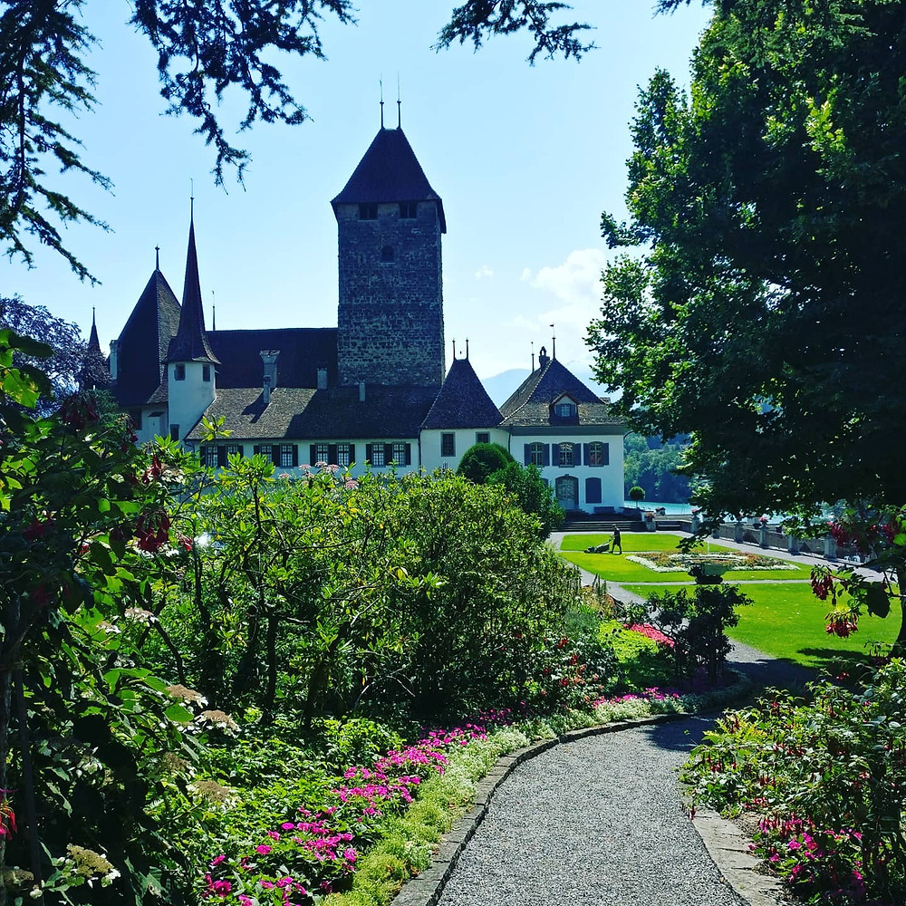 Schloss in Spiez im Berner Oberland