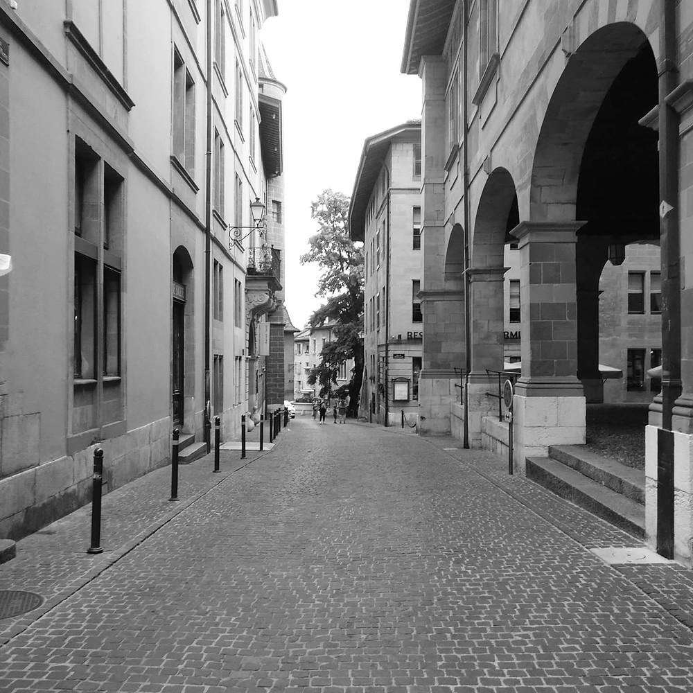 Blick in die Genfer Altstadt