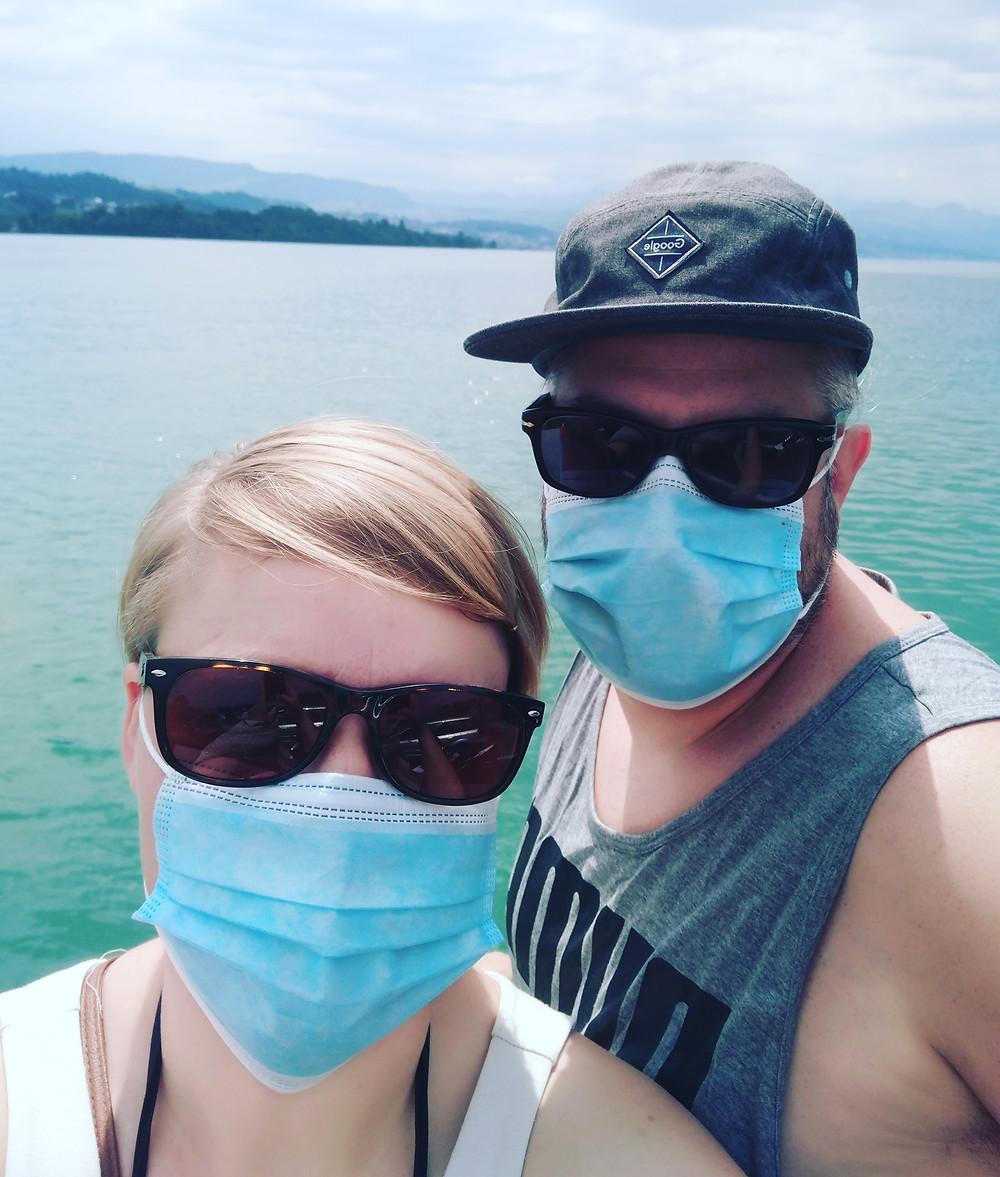 Andri und Anne auf dem Zürichsee