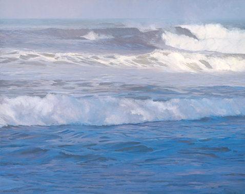 """Kahiliwai Surf"" 48 x 60 in.  original oil on linen."
