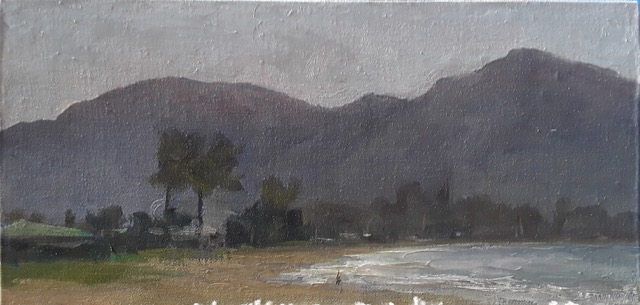 """""""Beautiful Morning"""" 8 x 16 in.  original oil on canvas."""