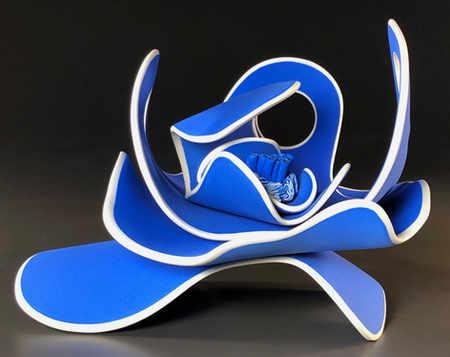 """Blue"" 6 x 7 x 10 in.  original porcelian sculpture."