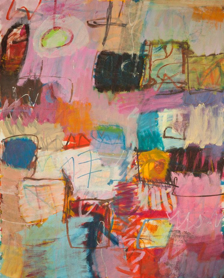 """Origins""  48 x 60 in. original acrylic on canvas.  SOLD"