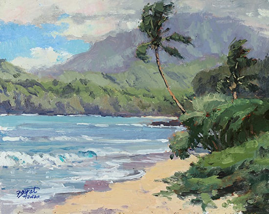 """Beautiful Kauai""  8 x 10 in.  original oil on linen board.   SOLD"