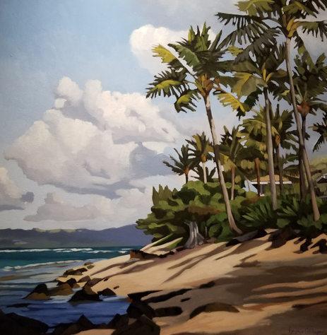 """Wainiha"" 36 x 36 in.  original acrylic on canvas."