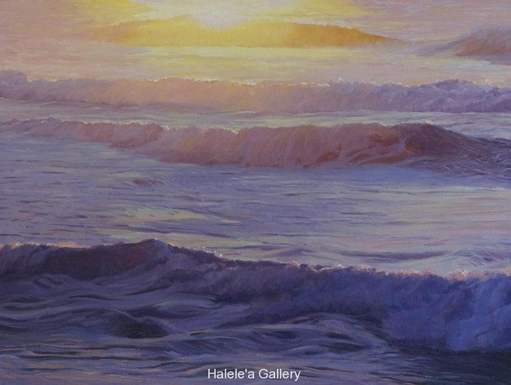 """Tunnels Sunset""  36 x 48 in.  original oil on linen."