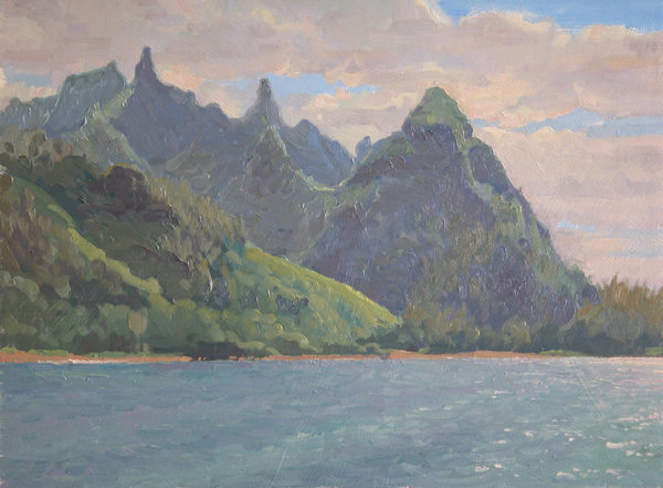 """Makana Vista"" 12 x 16 in.  original oil on linen."