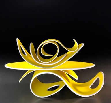 """Lemon Twist""  6 x 6 x 11 in.  original porcelian sculpture."