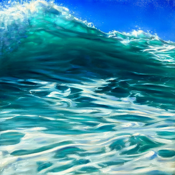 """""""Rocky Point 47"""" 36 x 36 in.  original oil on canvas."""