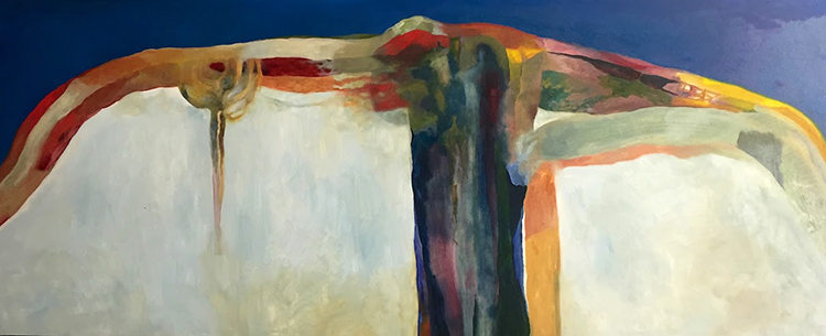 """We Will Reseed Our Glaciers"" 30 x 72 in.  original oil on canvas."