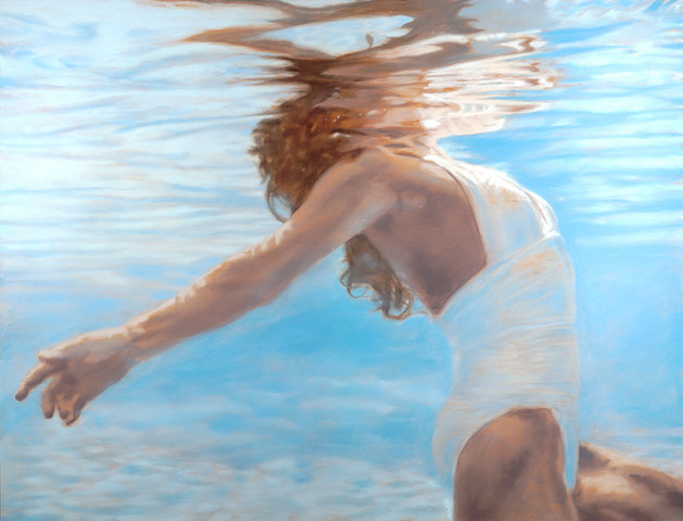 """""""Light Catch""""  46 x 60 in.  original acrylic and oil on wood panel."""
