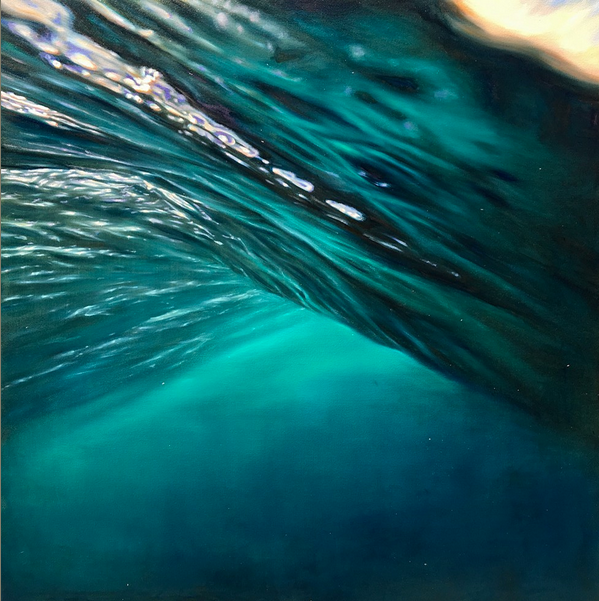 """""""Point Panic 7"""" 48 x 48 in.  original oil on canvas."""