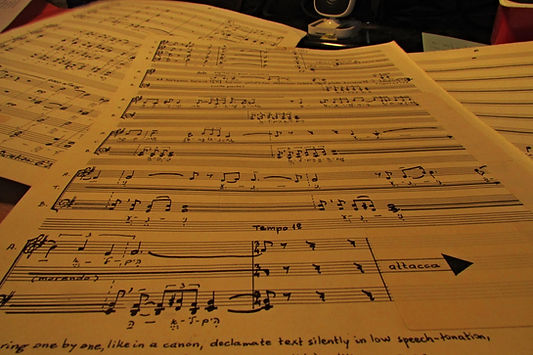 manuscript score example