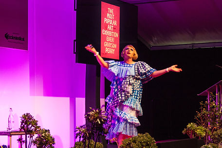 ellie bell photography, grayson perry, chatsworth, art out loud, art festival, performance
