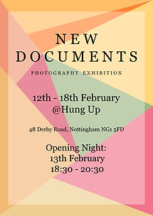 ellie bell photography, new documents, exhibition, poster, nottingham