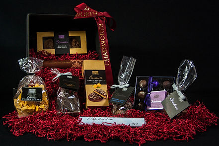 ellie bell photography, chatsworth, hamper, christmas, treats, chocolate, biscuits, gift