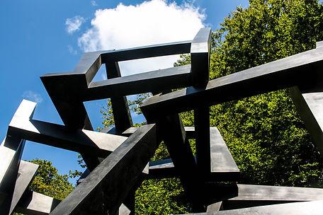 ellie bell photography, chatsworth, chatsworth garden, garden, landscape, sculpture, trees, sky, abstract, modern, art, countryside, derbyshire