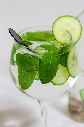 ellie bell photography, product photography, drink photography, chatsworth, cocktail, mint, cucumber