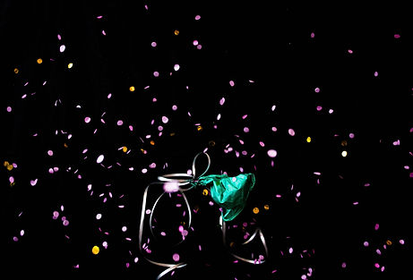 ellie bell photography, still life photography, balloon, balloon popping, popping, confetti, party, celebration, abstract photography, high speed photography
