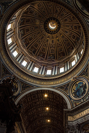 ellie bell photography, rome, italy, summer, st. peter's basilica, interior, interior design, roman, artwork, design, dome, religion