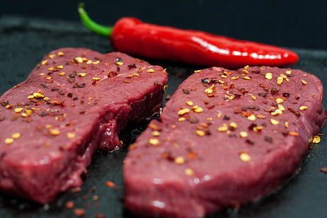 ellie bell photography, food photography, steak, beef, chilli, crushed chilli, herbs, red chilli, meat, raw meat
