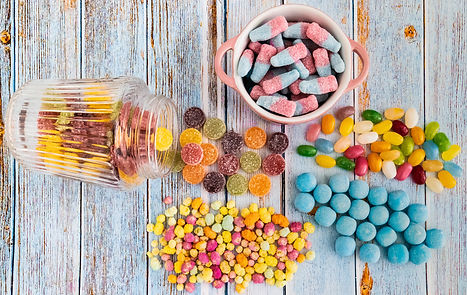 ellie bell photography, food photography, sweets, sugar, bon bons, jelly beans, fruit pastilles, rainbow drops