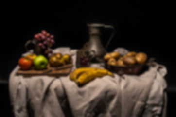 ellie bell photography, food photography, renaissance, painting, fruit, vegetables, food waste, pewter, styling, food styling