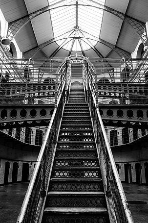 ellie bell photography, dublin, ireland, architecture, black and white photography, canon, photographer, Kilmainham Gaol, travel