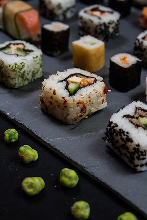 ellie bell photography, food photography, sushi, fish, raw fish, rice, wasabi, japanese, salmon, rice