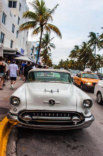 ellie bell photography, travel, miami, usa, florida, miami south beach, vintage, vintage car, car