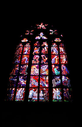 ellie bell photography, prague, czech republic, old town, stain glass window, cathedral