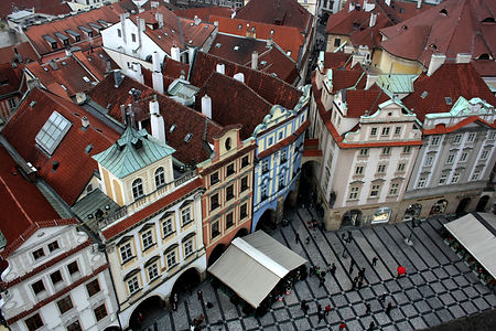 ellie bell photography, prague, czech republic, aerial view, architecture, old town