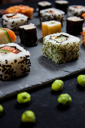 ellie bell photography, food photography, sushi, fish, raw fish, japanese, wasabi, rice