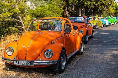 ellie bell photography, croatia, hvar, island, beetle, car, vintage, vintage car, old, colourful, europe, tourism, summer