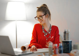 woman-in-red-long-sleeve-shirt-looking-a