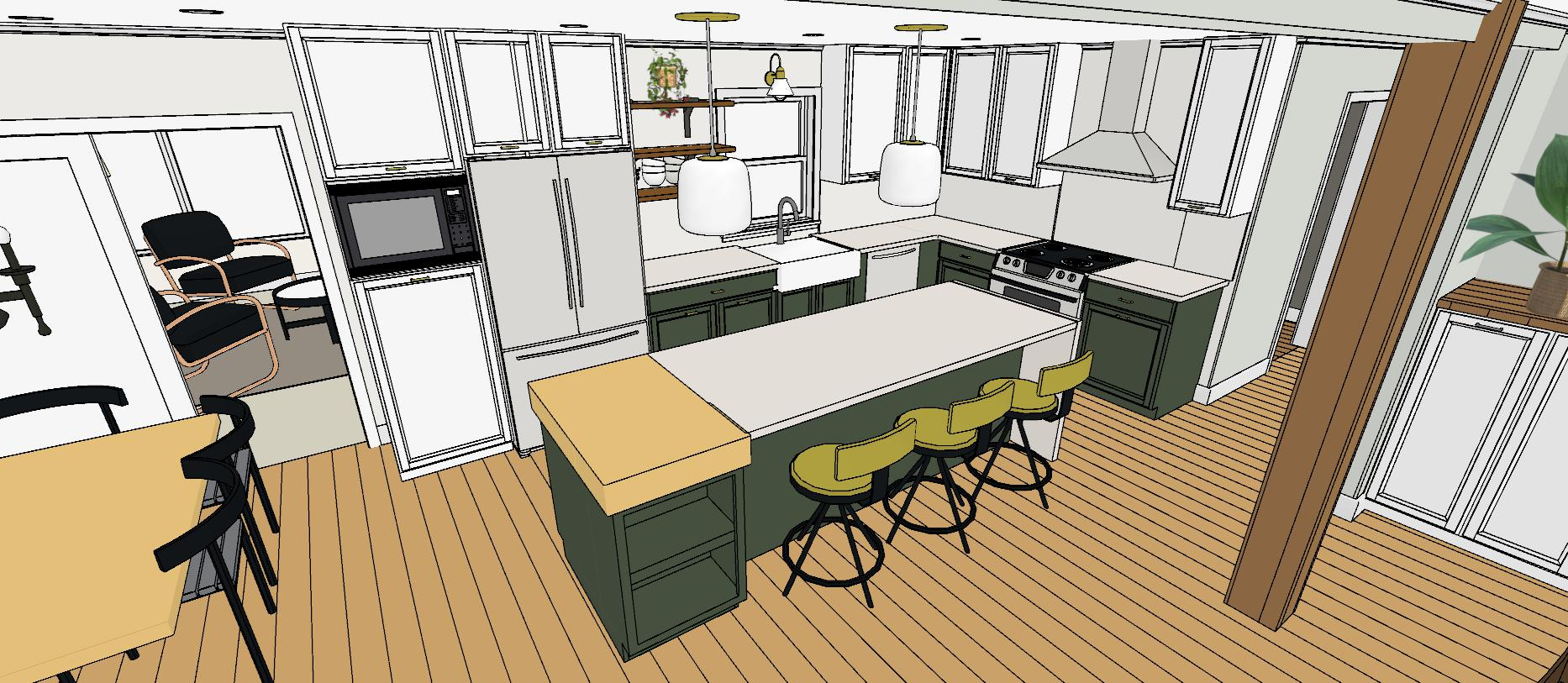 Kitchen Remodel Vector View
