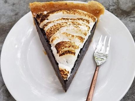 Dark Chocolate Meringue Pie