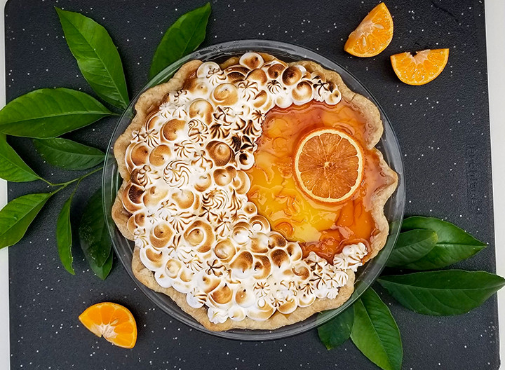 seville orange marmalade pie with toasted meringue