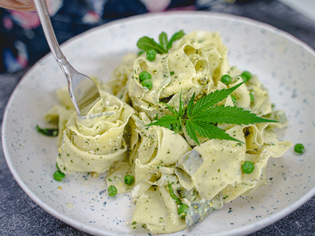 Infused Pappardelle Pesto Pasta