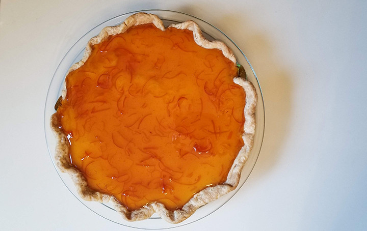 pie with orange marmalade