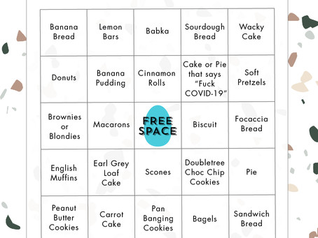 Stress Baking Bingo for Instagram Story