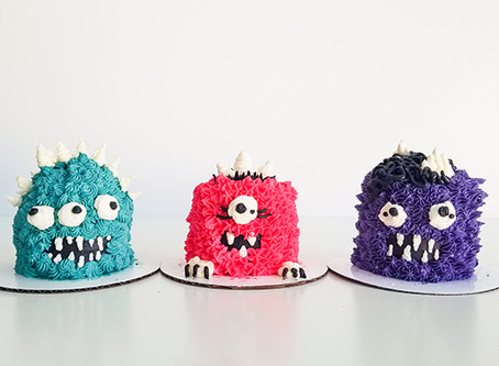Tiny Little Monster Cakes