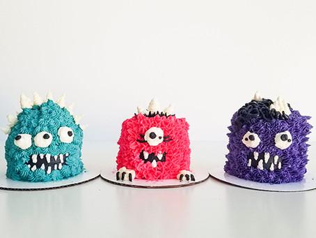 Tiny Little Monster Cakes